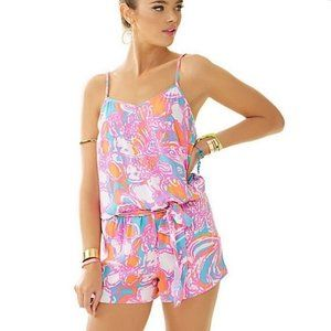 LILLY PULITZER Deanna Romper in Feeling Tanked SM